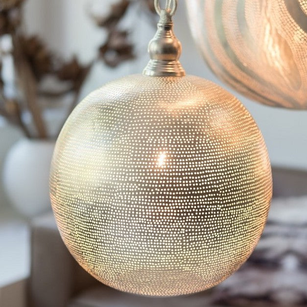 Filisky ball pendant light in silver