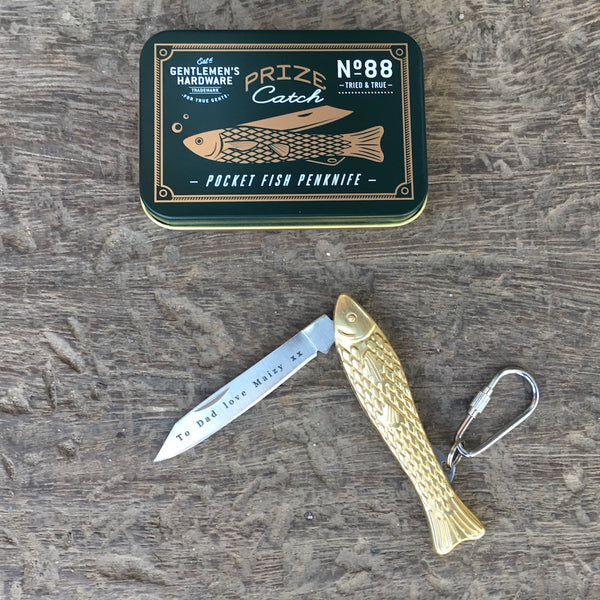 Personalised Fish Pen Knife