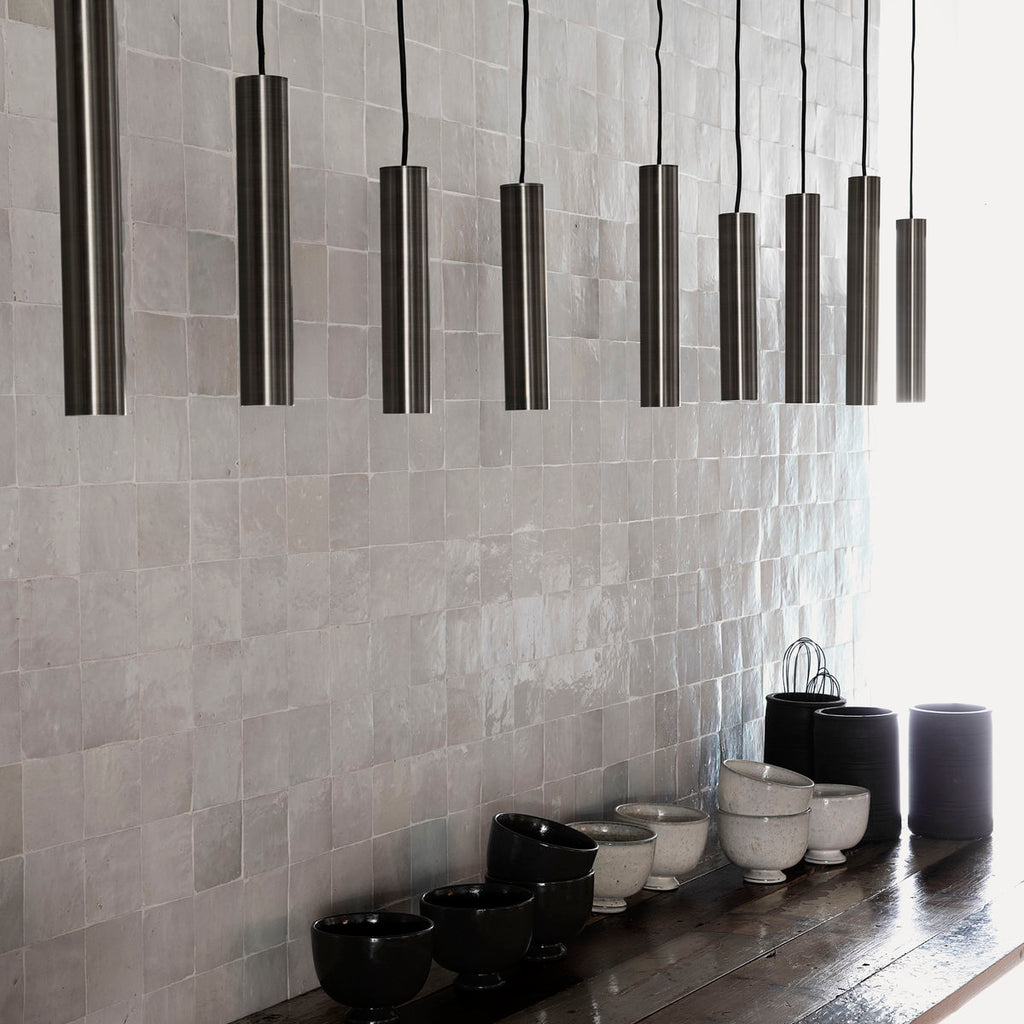 Black long pin pendant light