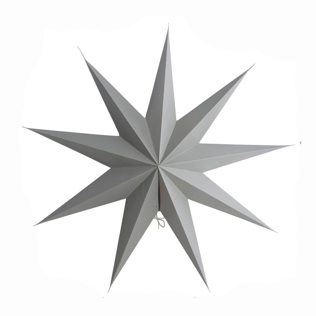 grey Christmas paper star
