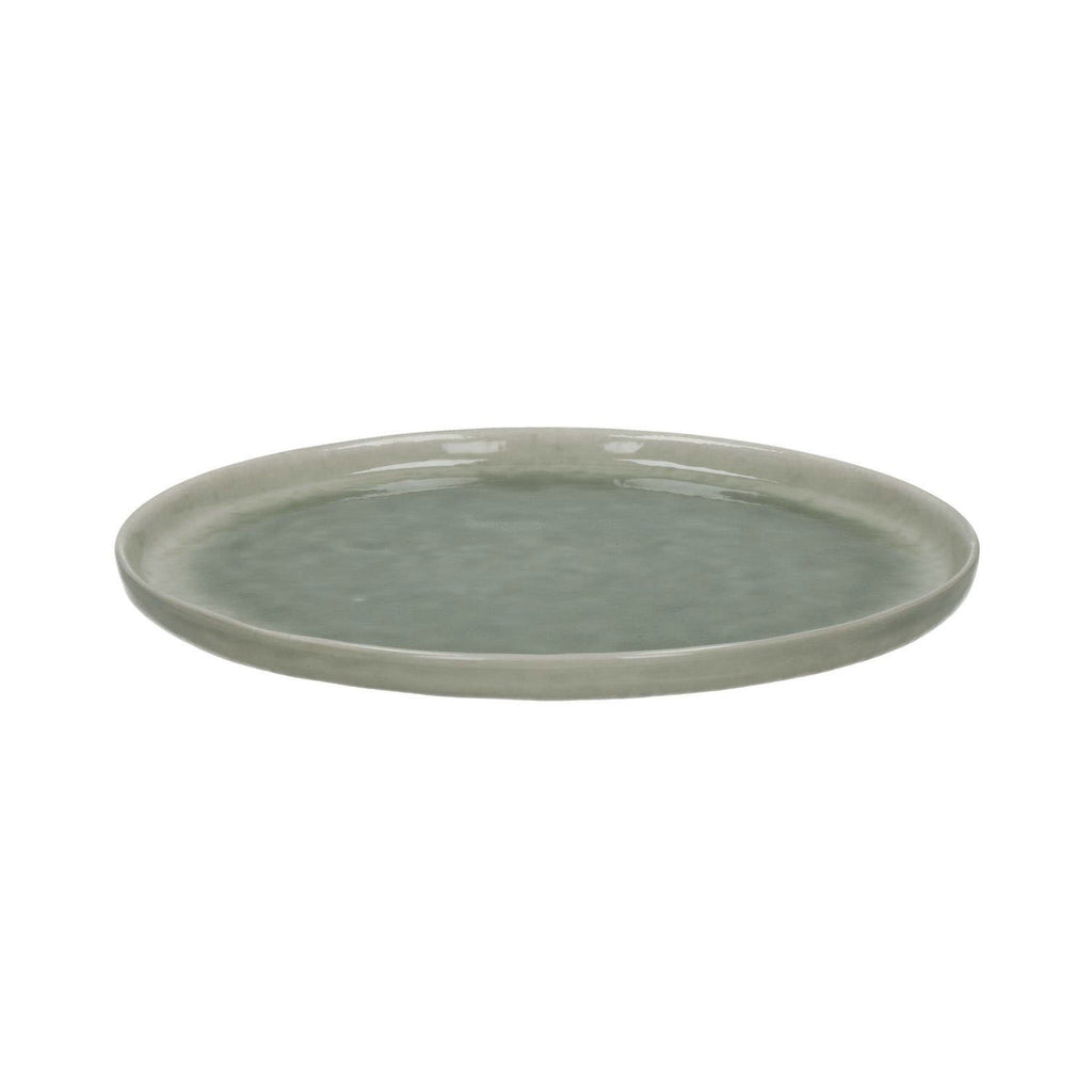 grey porcelain crackle glaze plates