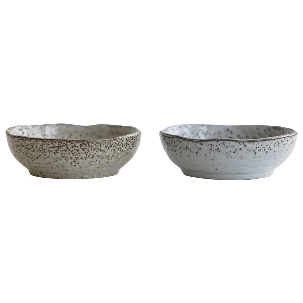 small blue/grey speckled bowls