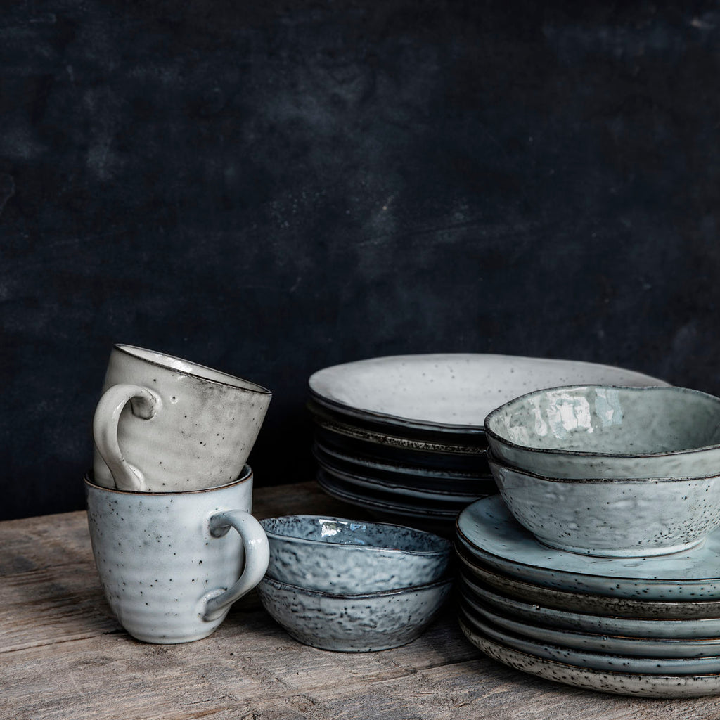 rustic crocker range in shades of blue and grey