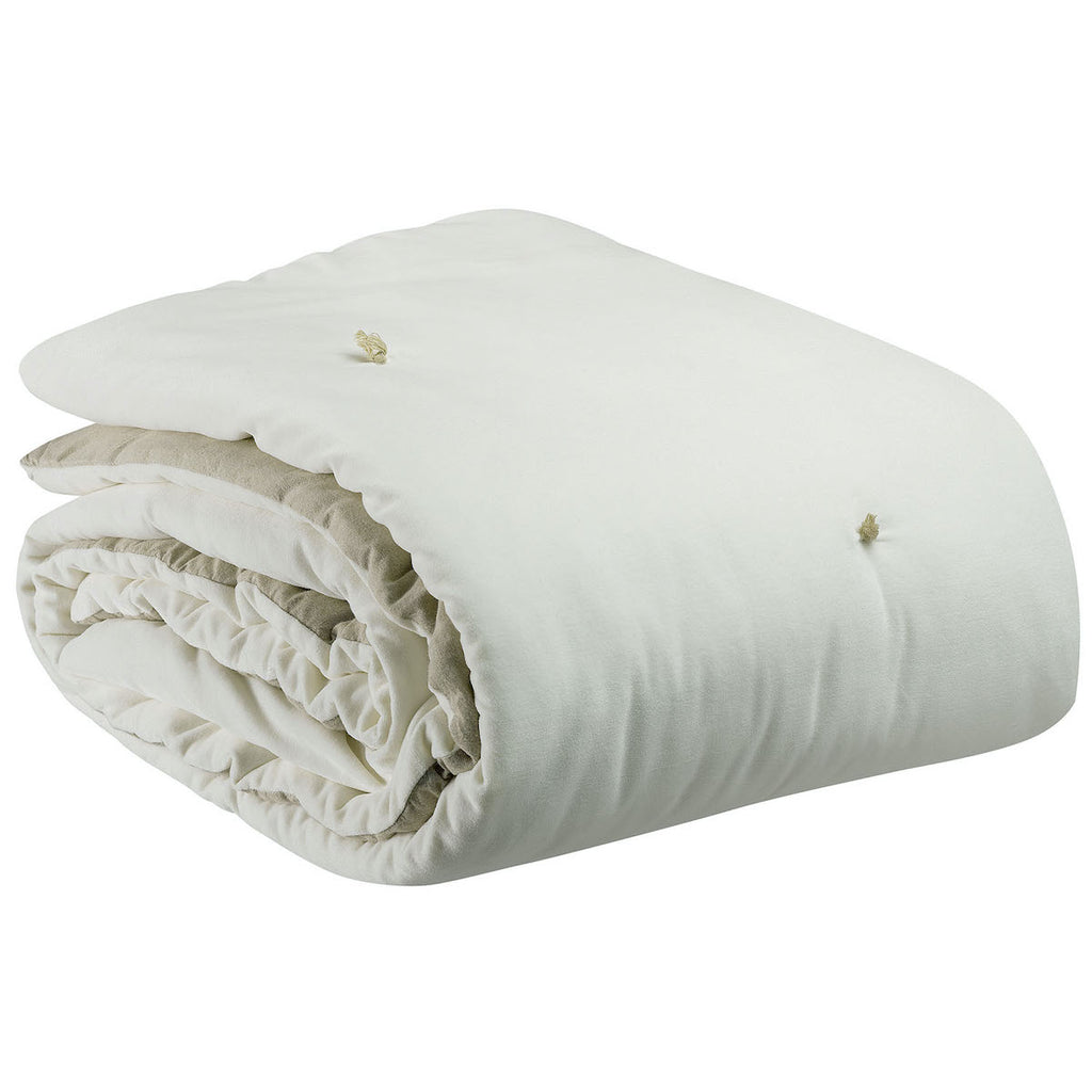 off white velvet throw by Vivaraise