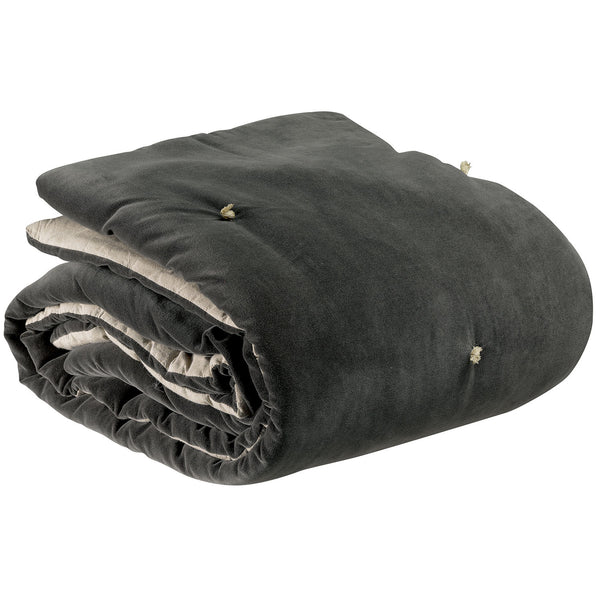 dark grey velvet throw