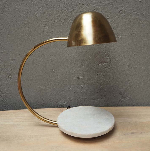 brass desk lamp with marble base
