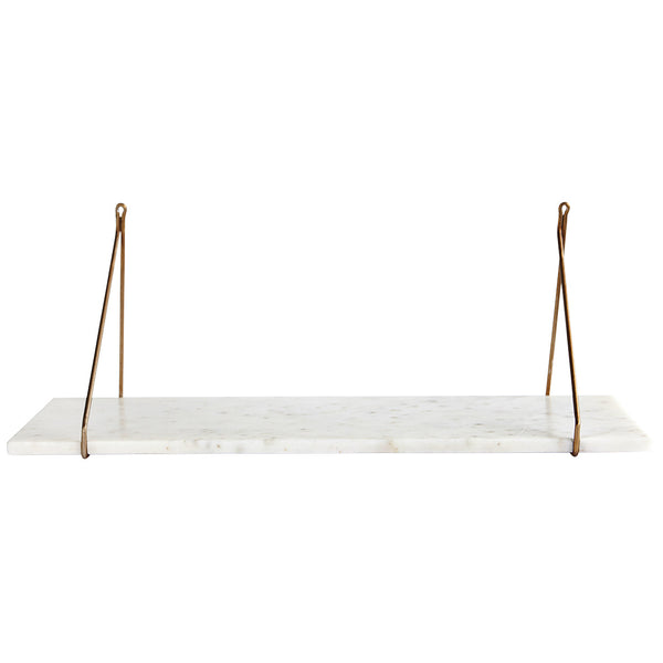 Marble hanging shelf
