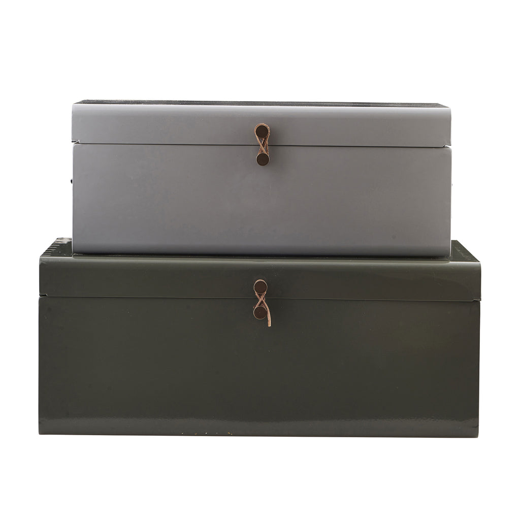 grey storage trunk