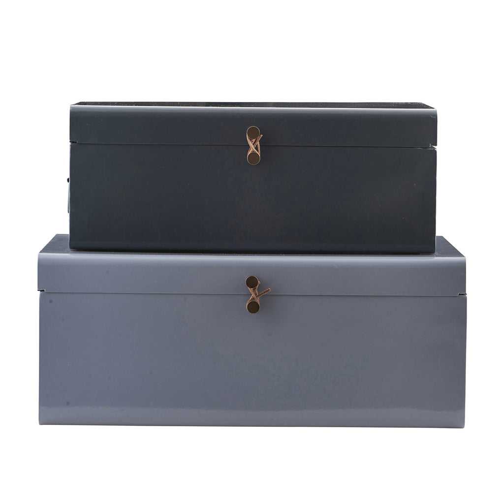 House Doctor metal storage trunk