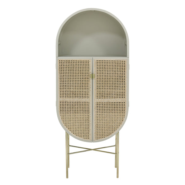grey oval cabinet by HK Living