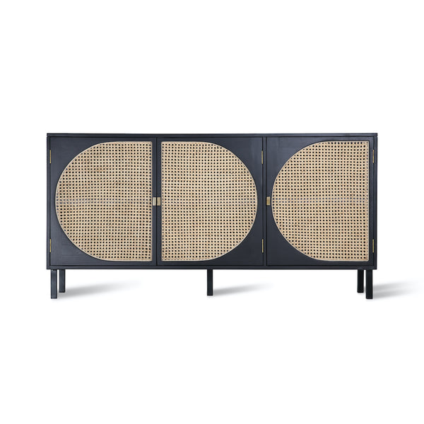 black and webbing cabinet by HK liVING