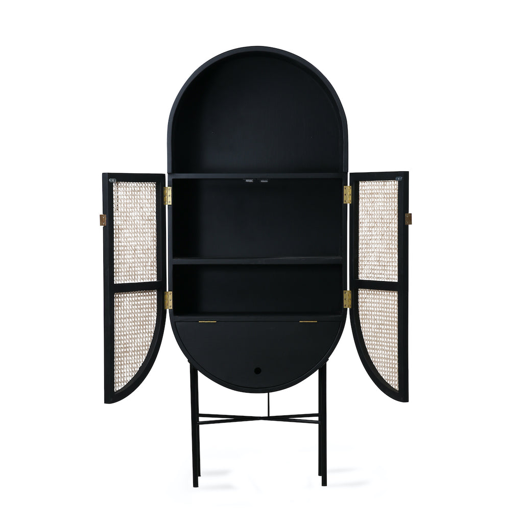 black oval cabinet by HK Living