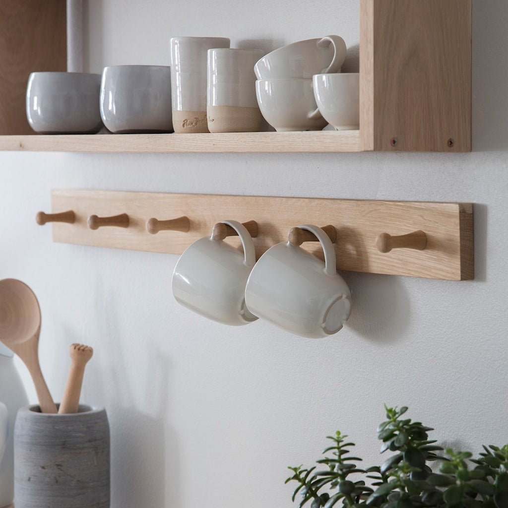oak peg hook rail