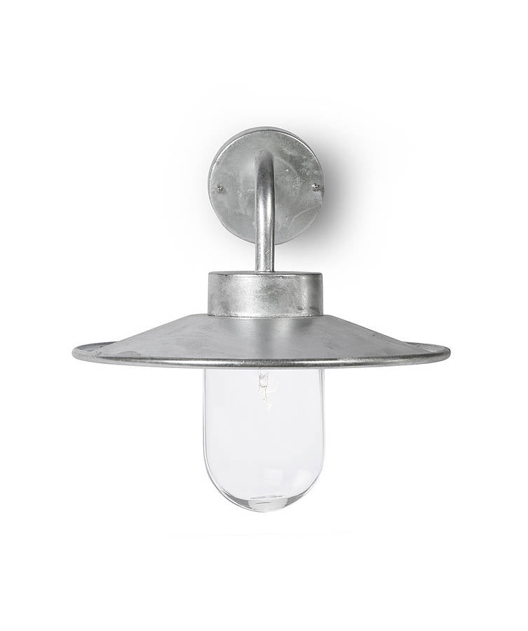 galvanised outdoor light by Garden Trading
