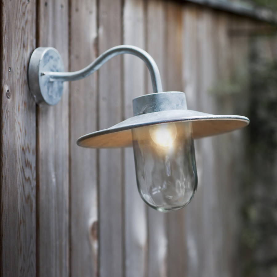 outdoor swan neck light