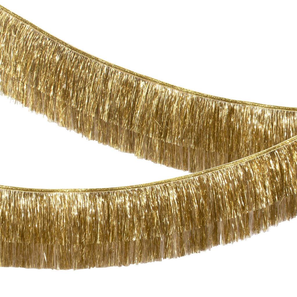 Gold tinsel garland by Meri Meri