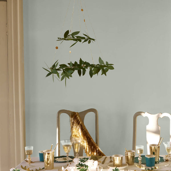Mistletoe foliage Christmas chandelier