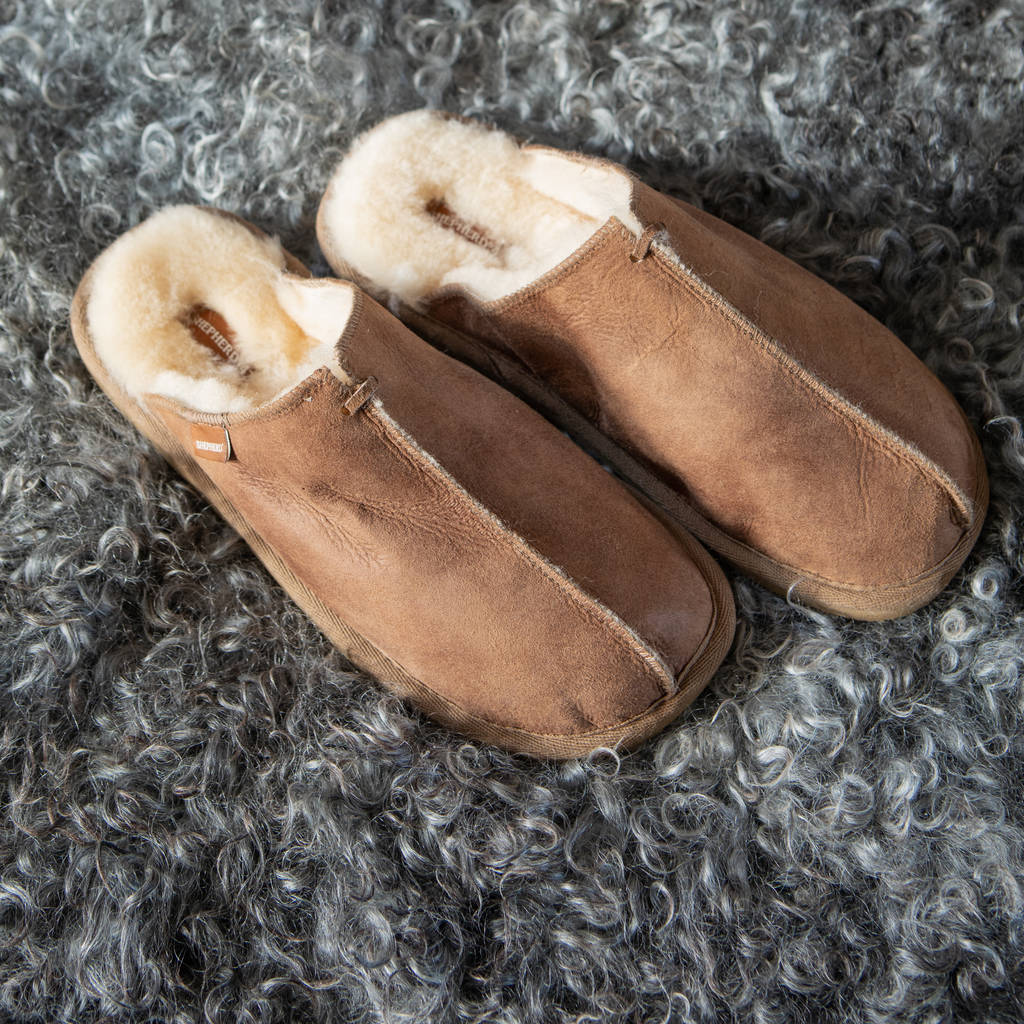 sheepskin slipper mules
