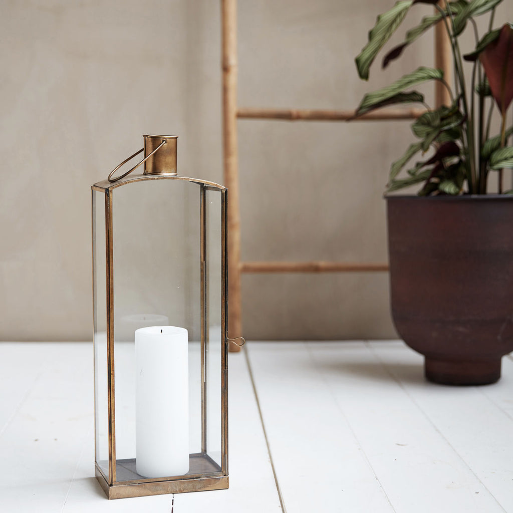 brass Moroccan lantern by House Doctor