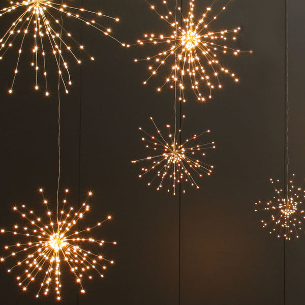 copper starburst lights