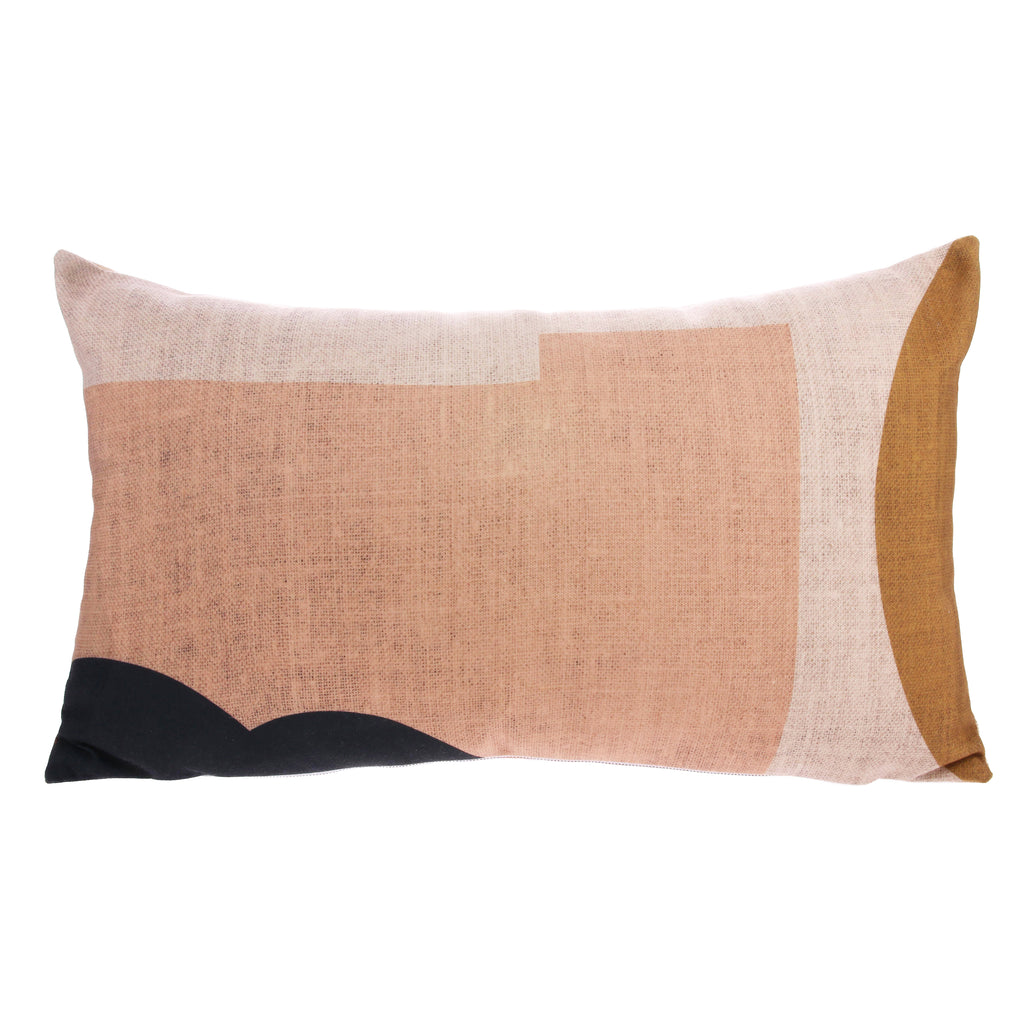 abstract patterned pink cushion