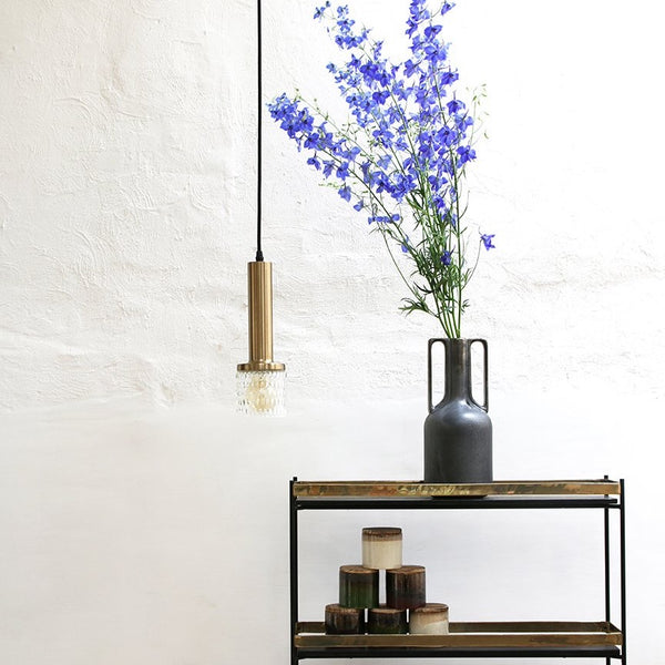 retro style brass and glass pendant light Pendle by HKLiving