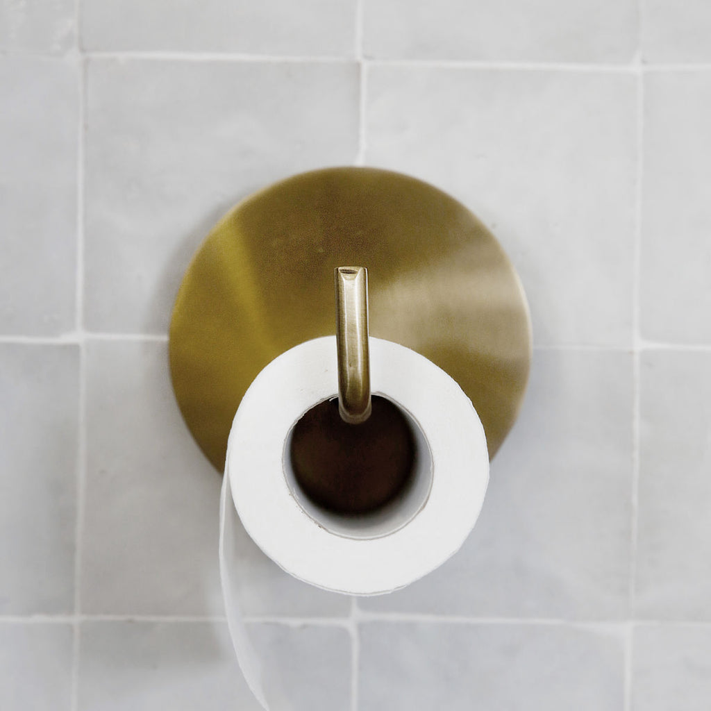 modern brass toilet roll holder from House Doctor