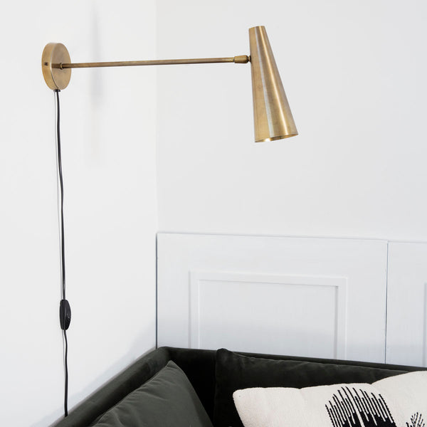 Precise wall lamp long arm