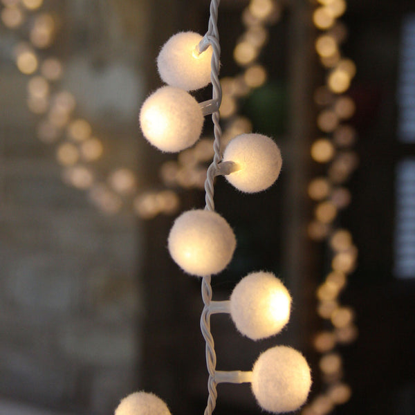 pompom string lights