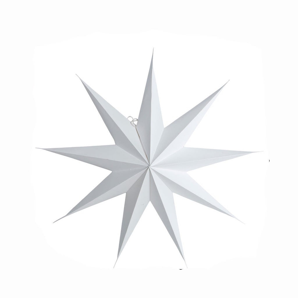 large white paper star