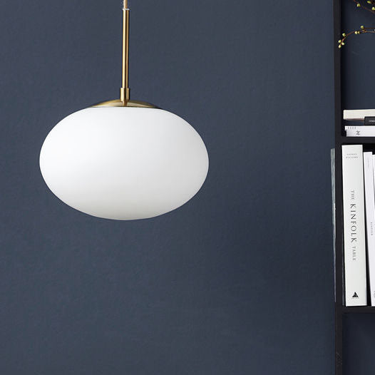 white pendant light Opal