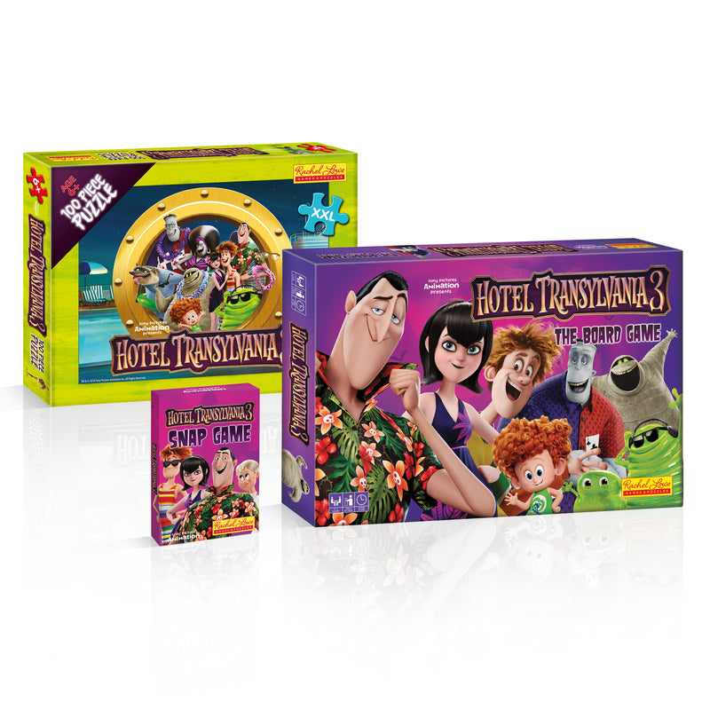 Hotel Transylvania Board Game, Puzzle & Snap Card Game Bundle