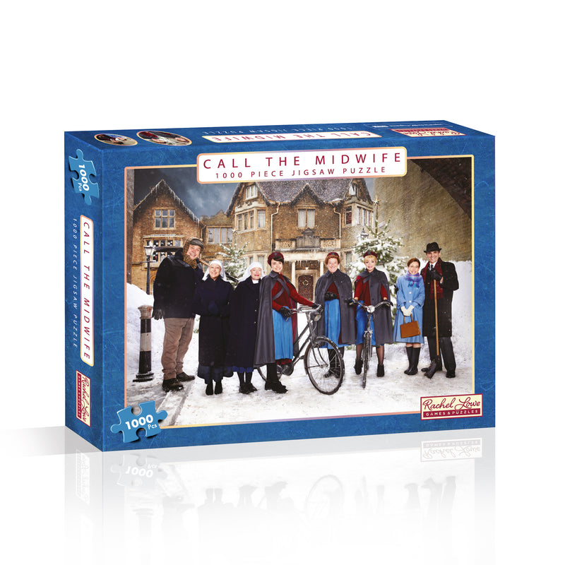 Call The Midwife 1000 Piece Jigsaw Puzzle.  Stunning imagery featuring iconic characters with the backdrop of Nonnatus House.  Perfect gift or Christmas present for any Call the Midwife fan!