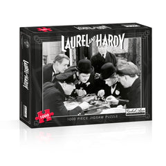 Laurel & Hardy 1000 Piece Jigsaw Puzzle and Laurel & Hardy 500 Piece Jigsaw Puzzle Bundle - The ultimate black & white puzzle challenge!  FREE SHIPPING UK