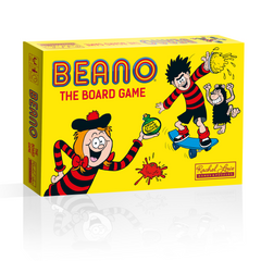 It is an average day in the school yard when you decide that it is time to play some pranks. Players take turns to journey around Beano Town and try to prank the different locations whilst avoiding the teacher.  Perhaps you will drop a whoopie cushion at Mount Beano or splat a custard pie at Bunkerton Castle.   Will you be the first player to prank 6 different locations and win the game?