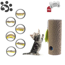 Load image into Gallery viewer, Scratching for Pets Cat Toy Scratch Corrugated Paper Board