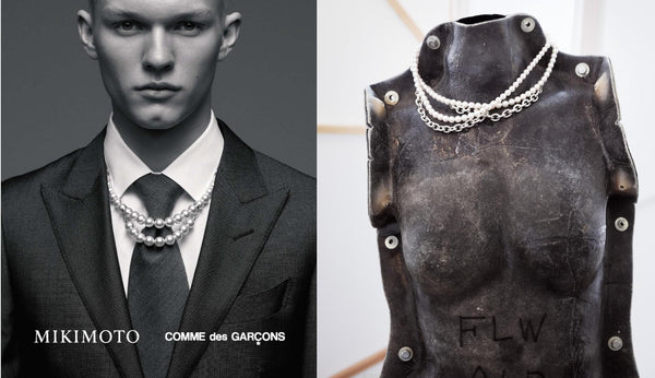 """COMME des GARÇONS x Mikimoto"" collection of Men's Jewelry"