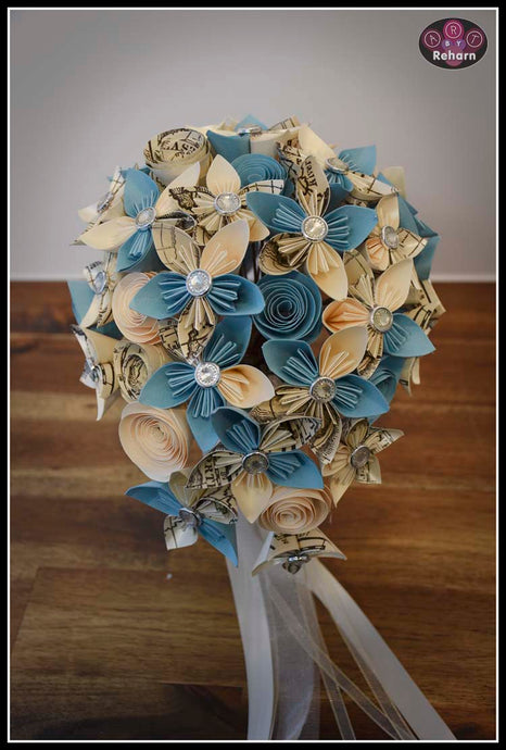 Wedding Flowers! Cream & Pale Blue