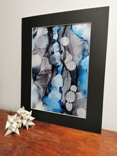 Load image into Gallery viewer, Original Ink Artwork - Moody Blue & Grey