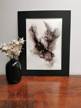 Load image into Gallery viewer, Original Ink Artwork - Classic Black & White Wispy Ink