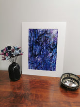 Load image into Gallery viewer, Original Ink Artwork - Purple Ripple (No. 3 of series of 3)