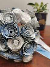 Load image into Gallery viewer, Bridal Bouquet - Blue & White