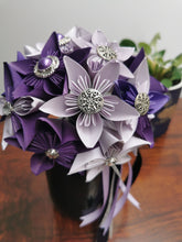 Load image into Gallery viewer, Bridesmaid Bouquet - Purple & Cream