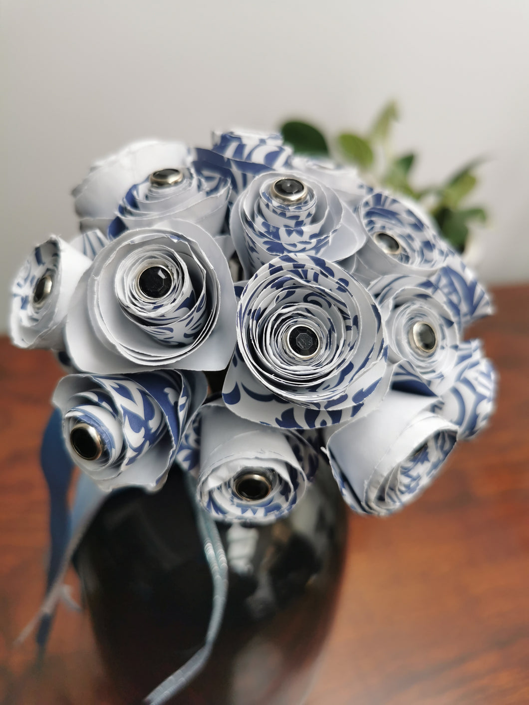 Bridesmaid Bouquet - Blue & White