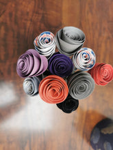 Load image into Gallery viewer, Paper Circle Flowers - Multi-coloured (bunch of 10)