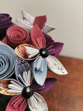 Load image into Gallery viewer, Origami Paper Flowers - Purple mix (bunch of 10)
