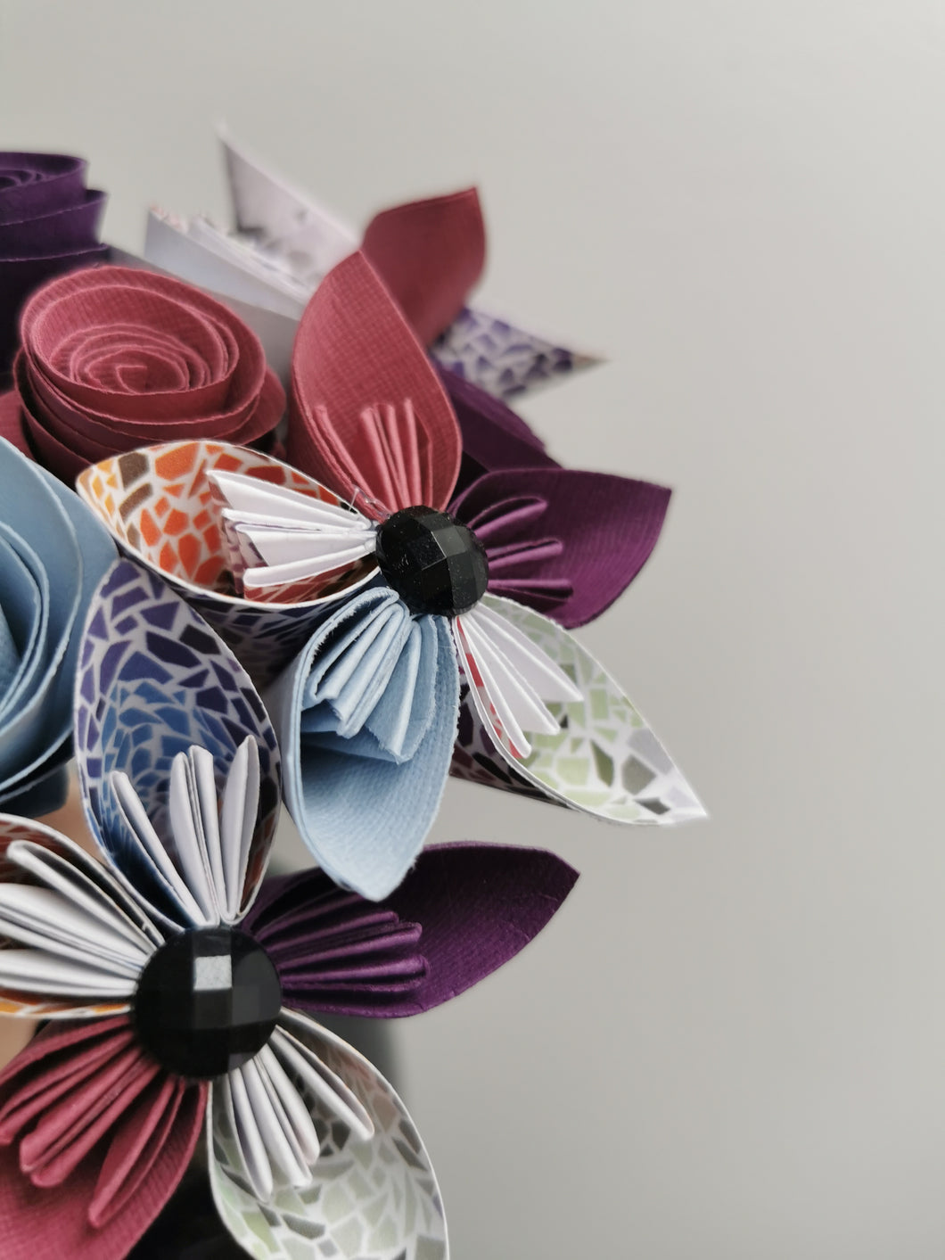 Origami Paper Flowers - Purple mix (bunch of 10)