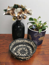 Load image into Gallery viewer, Coil Basket - Natural & Black Paper Raffia
