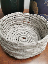 Load image into Gallery viewer, Coil Basket - Grey Paper Raffia