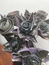 Load image into Gallery viewer, Origami Paper Flowers - Deep Purple mix (bunch of 9)
